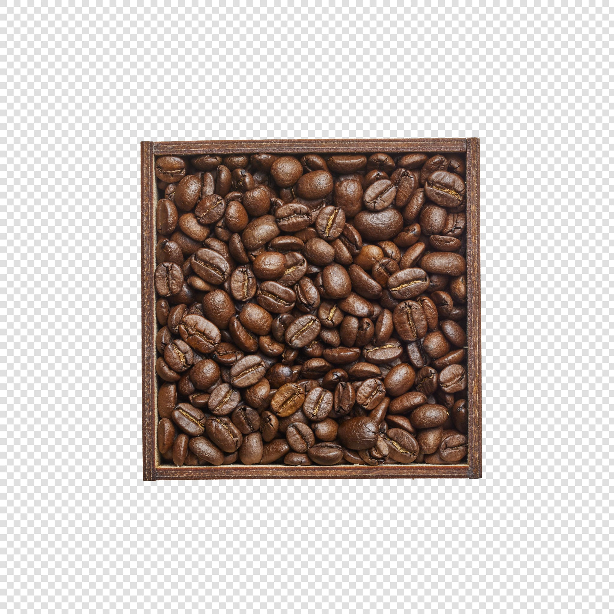 Clean Isolated PSD image of Coffee on transparent background with separated shadow