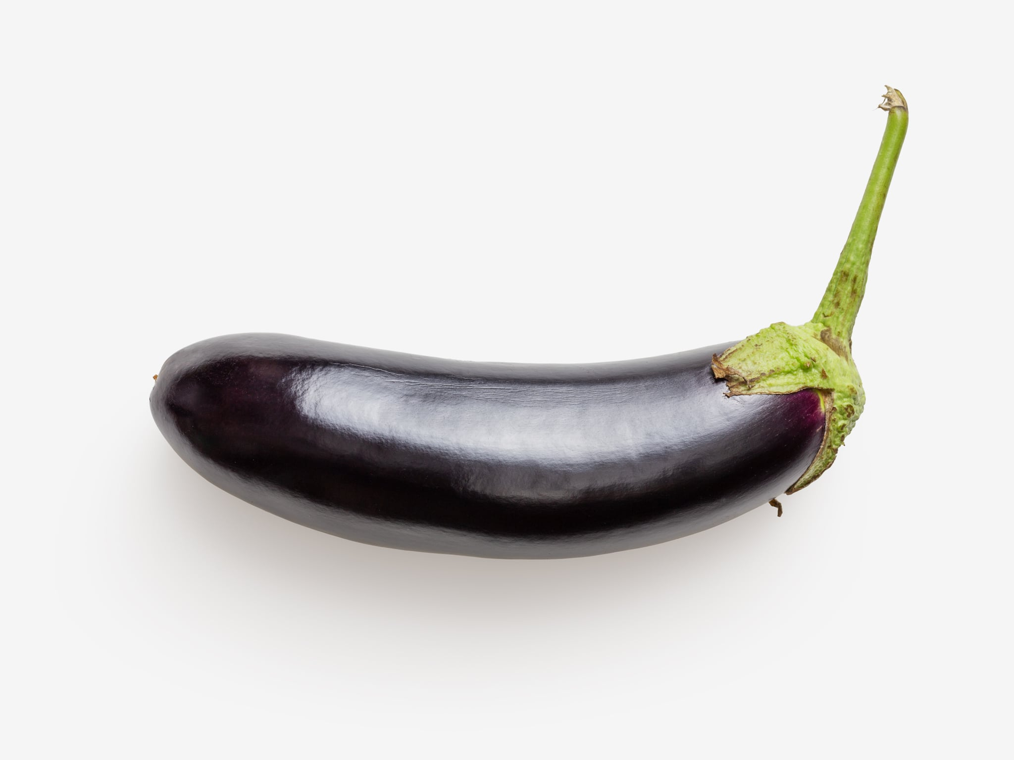 Clean Isolated PSD image of Eggplant on transparent background with separated shadow