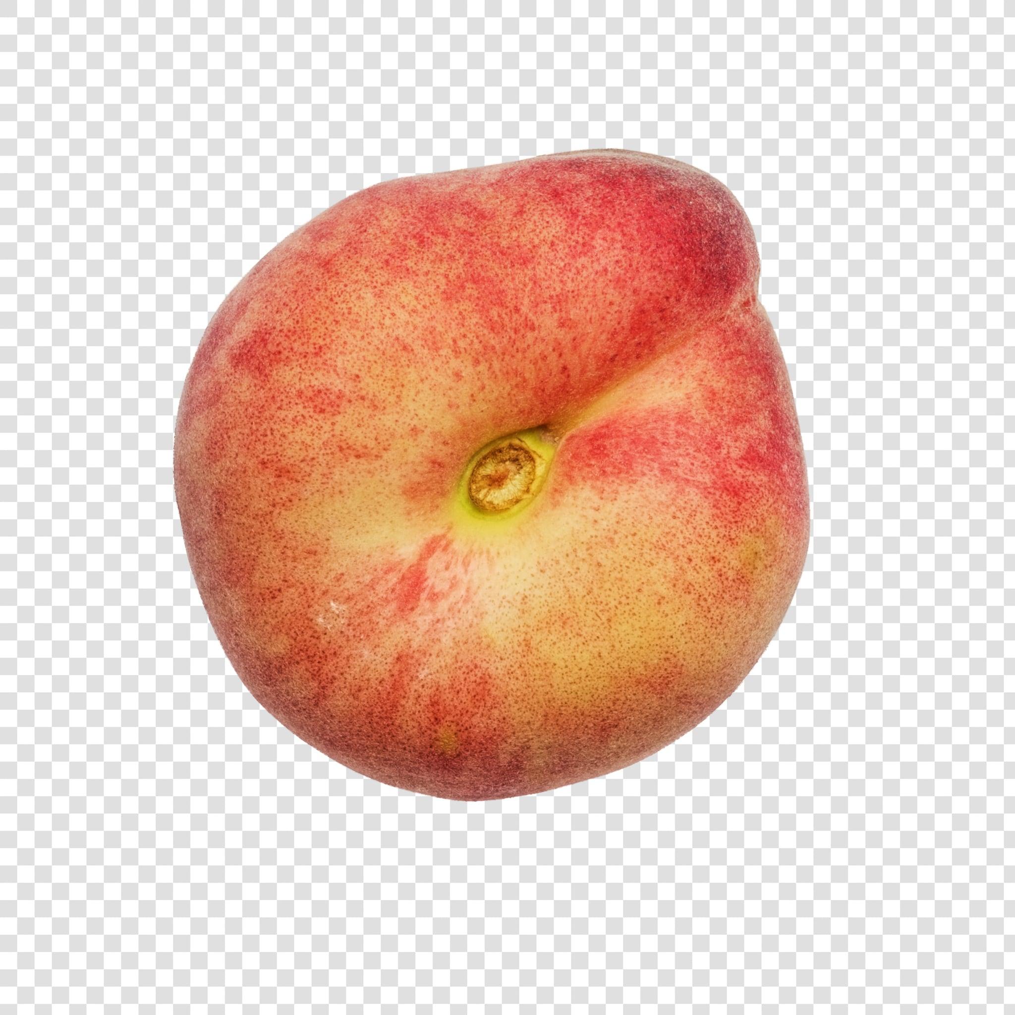 Nectarine PSD isolated image