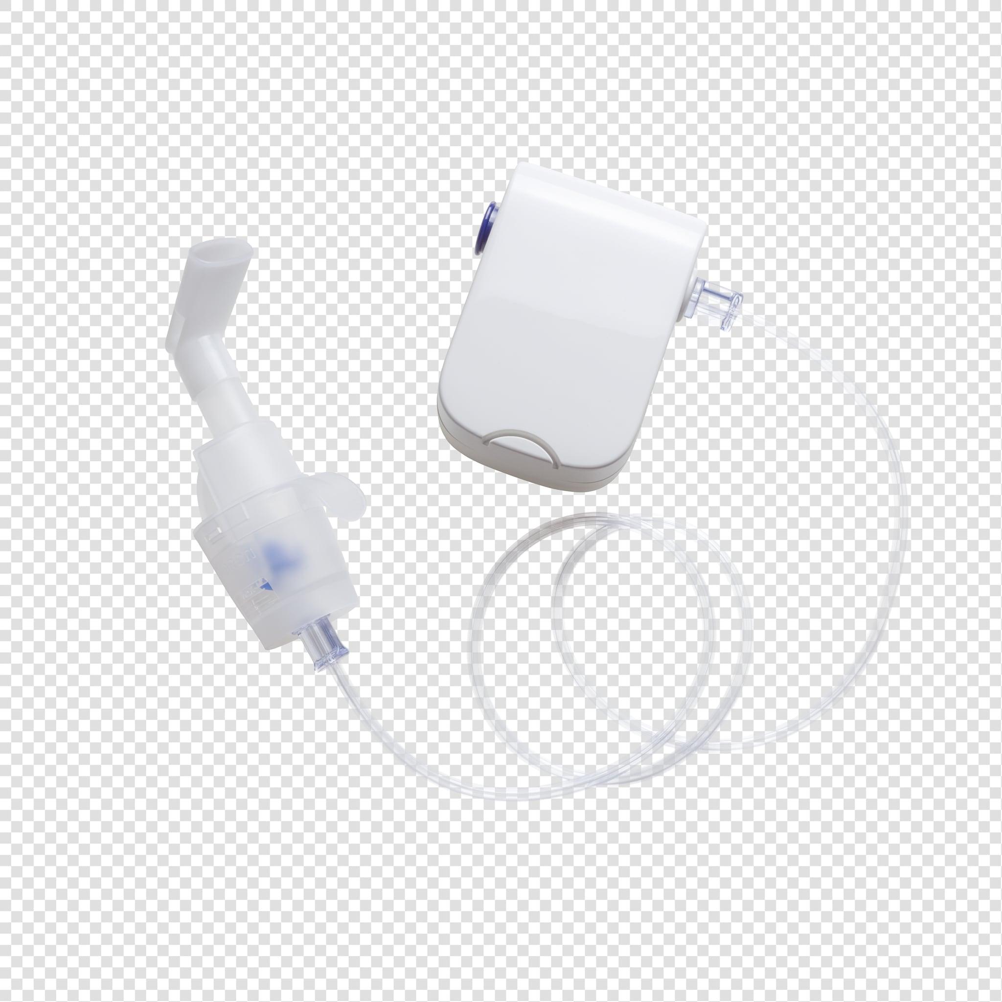Medical inhalant PSD image on transparent background