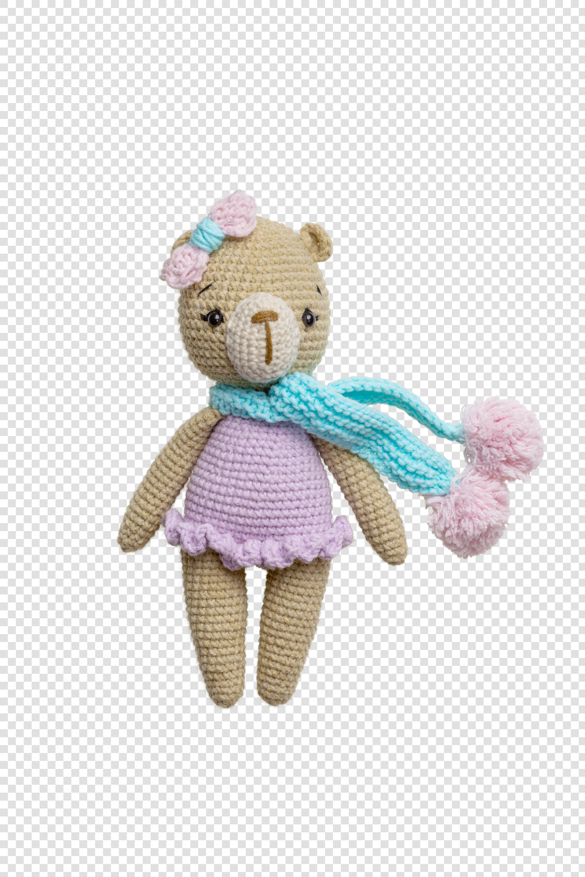 Craft toy PSD image on transparent background