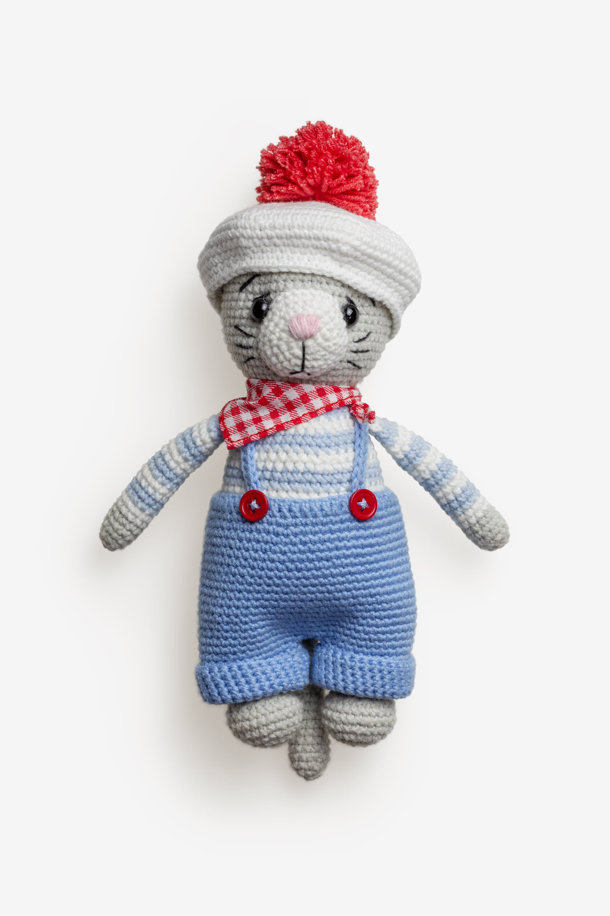 Clean Isolated PSD image of Wool toy on transparent background with separated shadow
