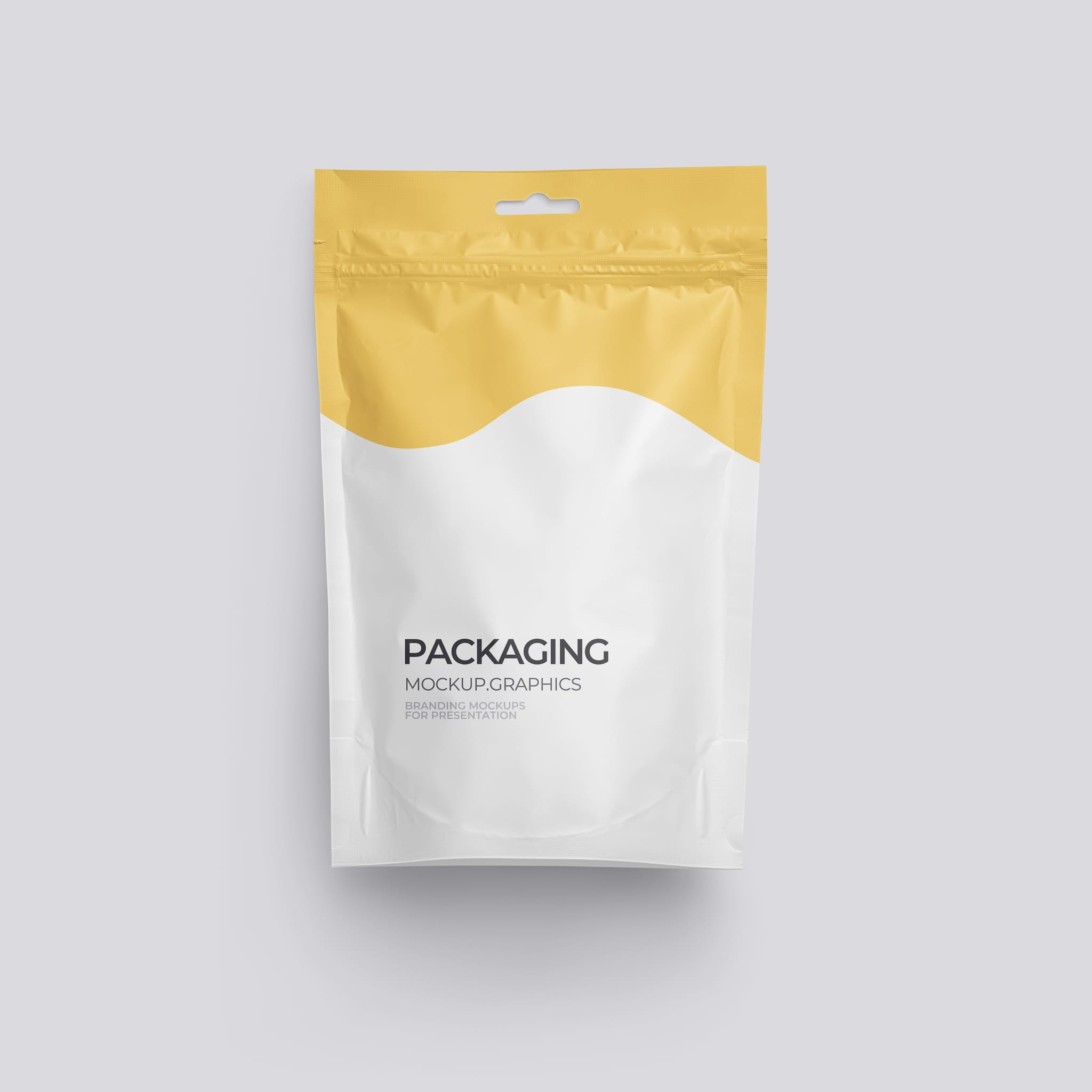 Doypack package mockup