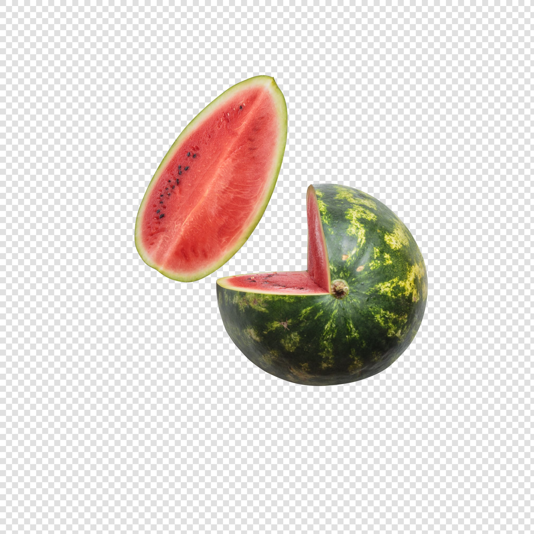 Watermelon PSD image with transparent background