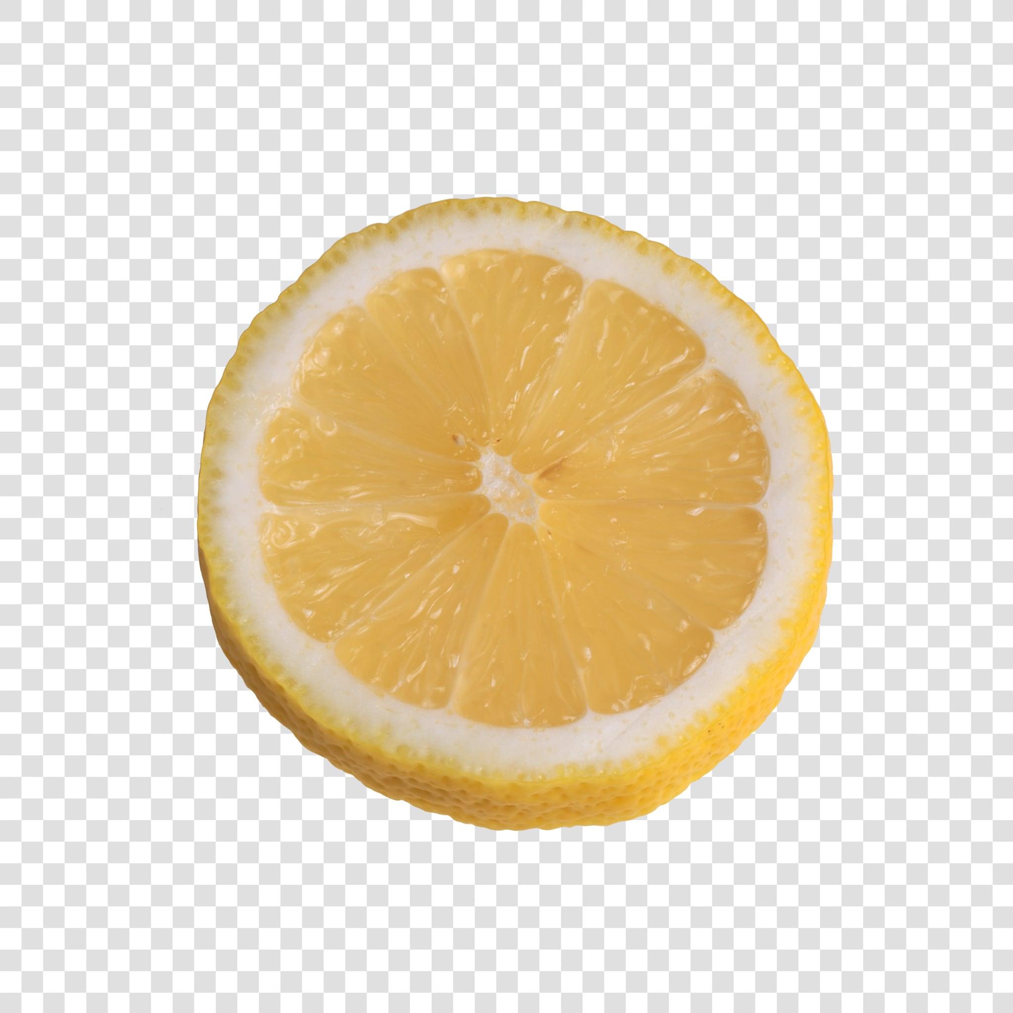 Lemon PSD image with transparent background