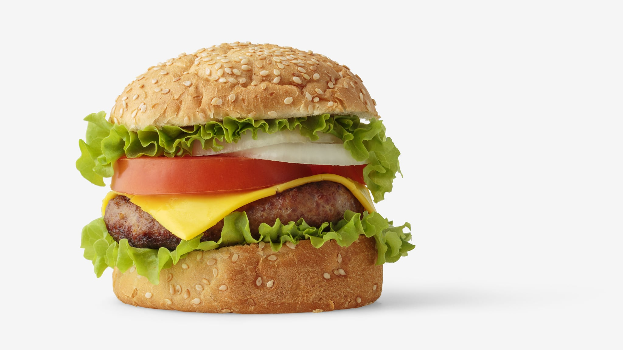 Burger PSD isolated image