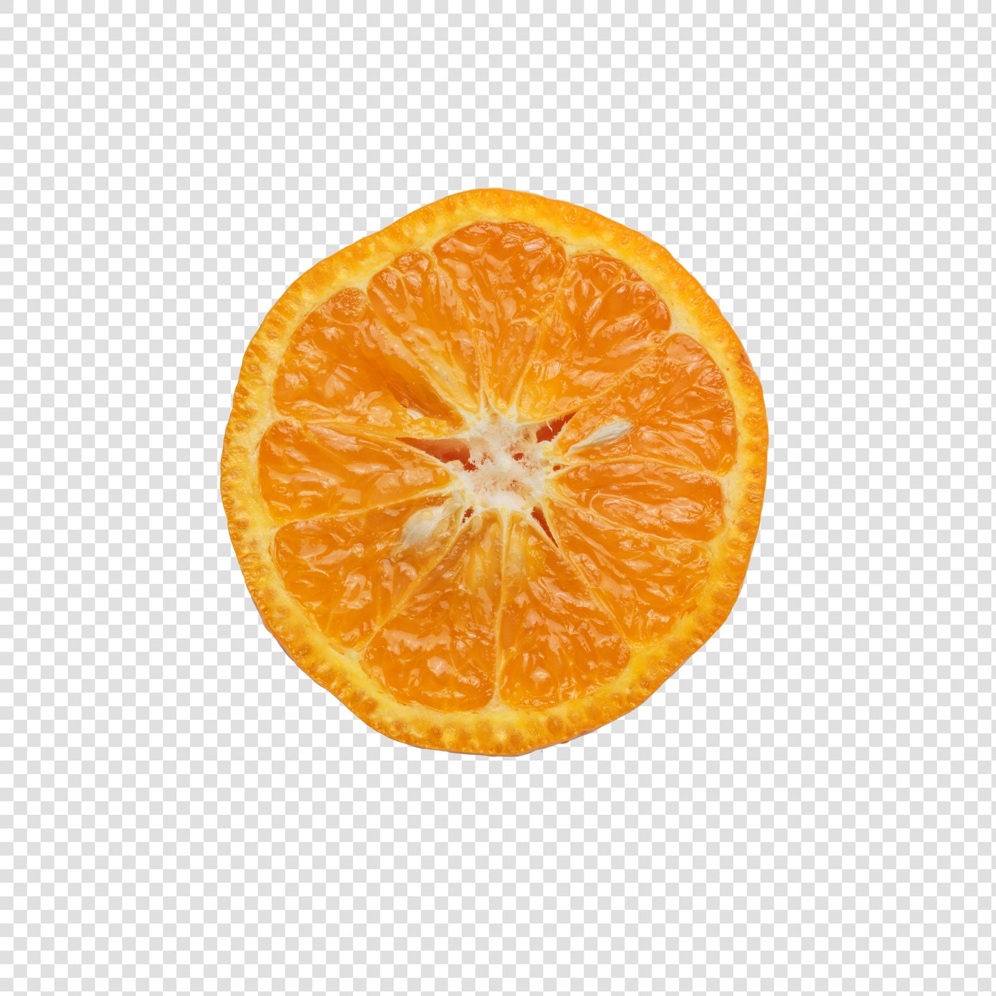 Orange PSD isolated image