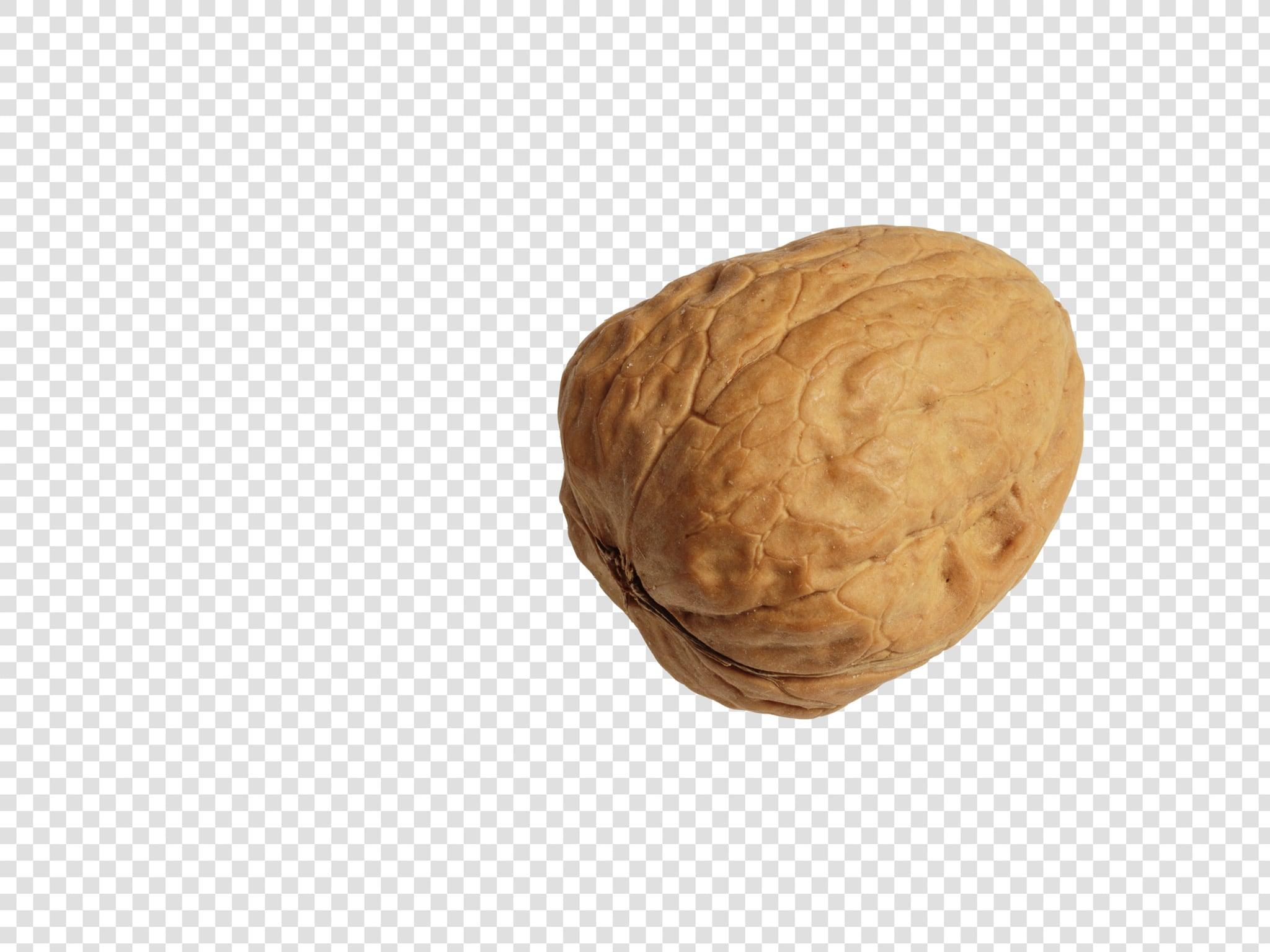 Walnut image asset with transparent background