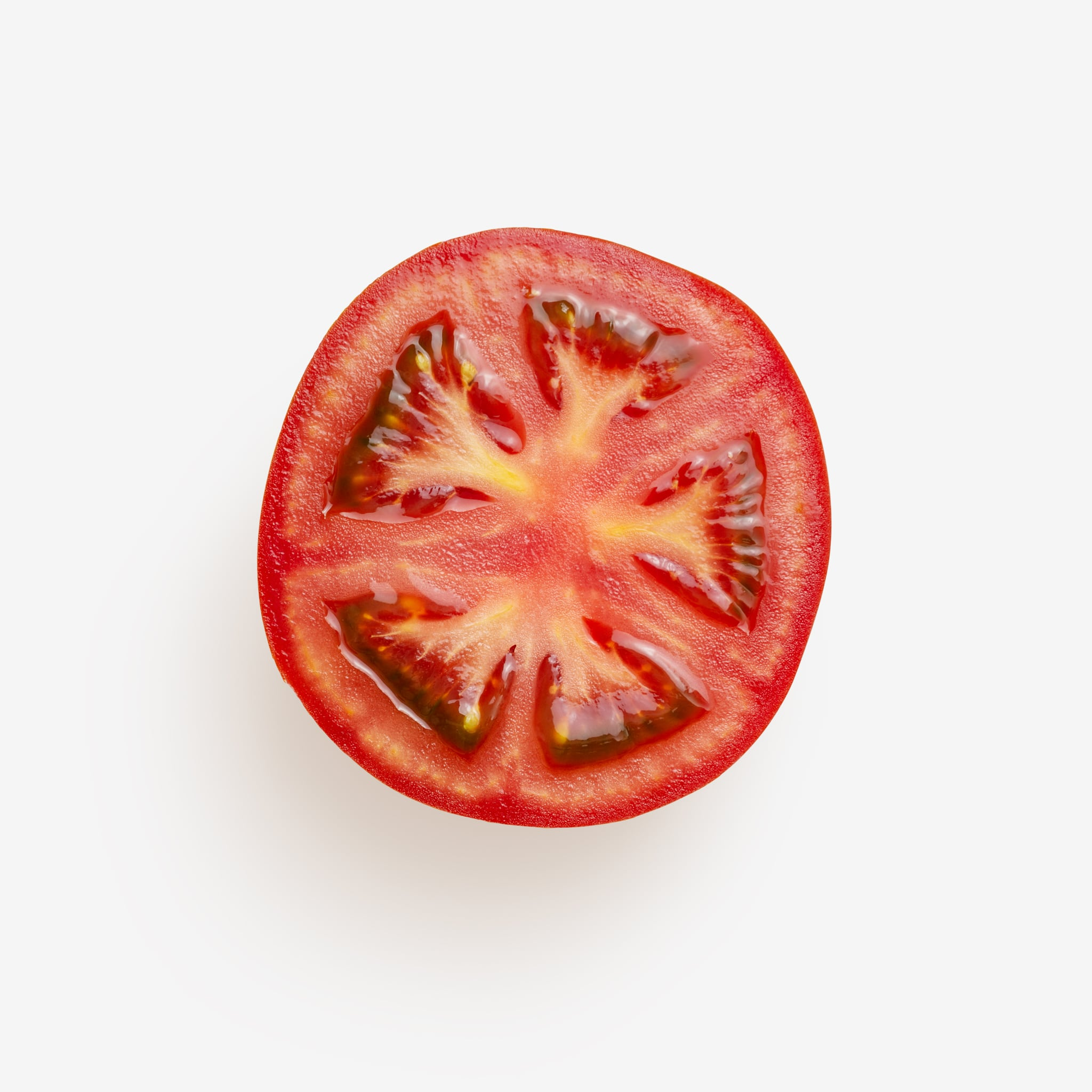 Clean Isolated PSD image of Tomato on transparent background with separated shadow