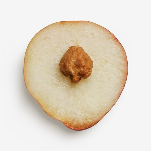 Nectarine image with transparent background