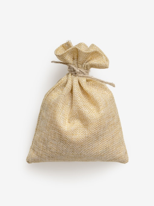 Clean Isolated PSD image of Craft pouch on transparent background with separated shadow
