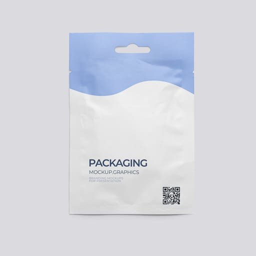 Seasoning package psd mockup