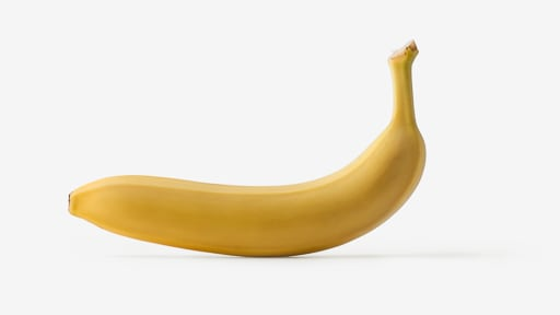 Banana PSD isolated image