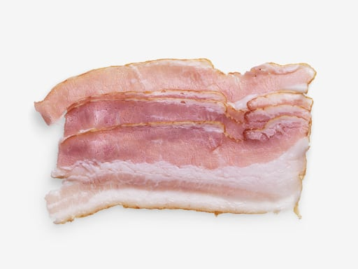 Bacon image with transparent background