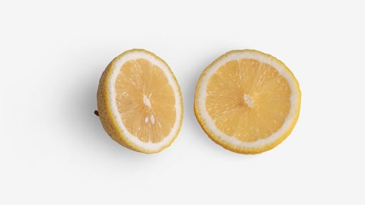 Lemon image asset with transparent background