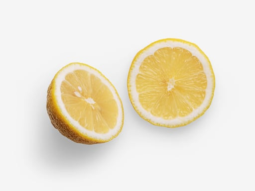 Lemon PSD image with transparent background