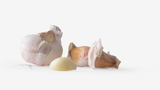 Garlic PSD isolated image