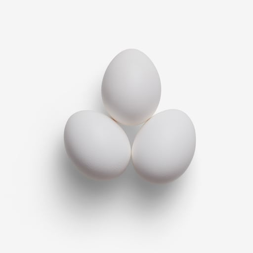 Egg PSD isolated image