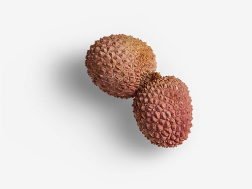Lychee PSD isolated image