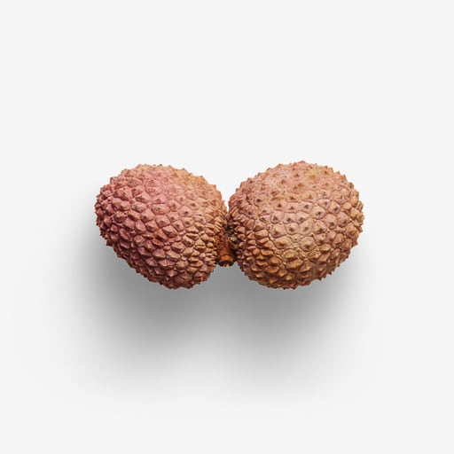 Lychee PSD image with transparent background