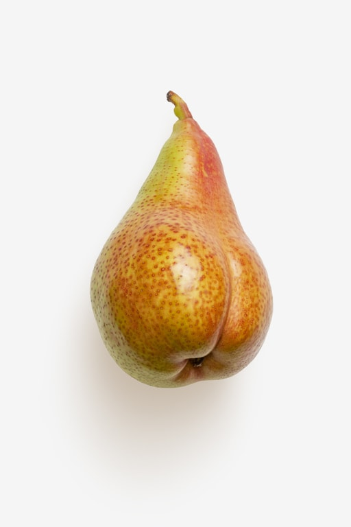 Clean Isolated PSD image of Pear on transparent background with separated shadow