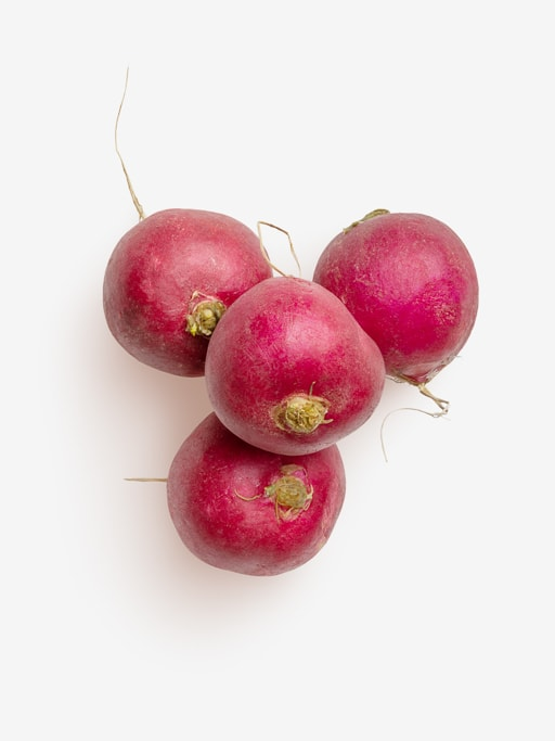 Clean Isolated PSD image of Radish on transparent background with separated shadow